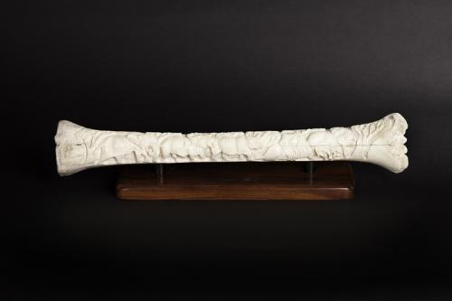 Giraffe bone carved