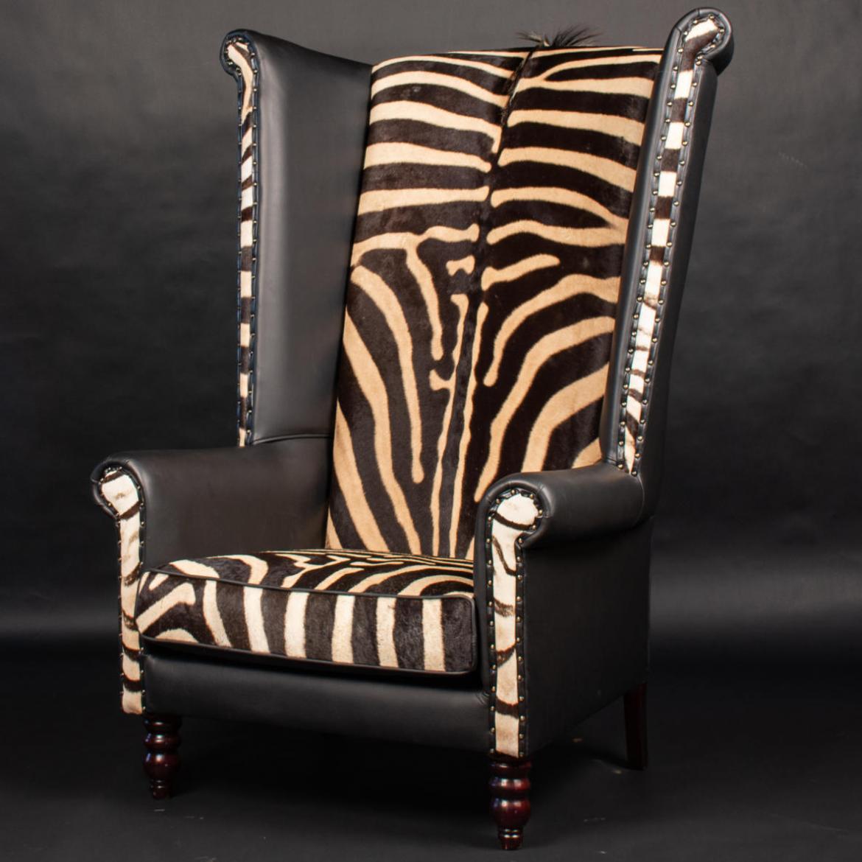 Zebra-Wingback-Chair