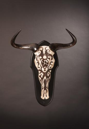 Tribal-Etched-Wildebeest-skull
